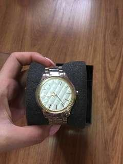 Zalora Gold Quilted Watch