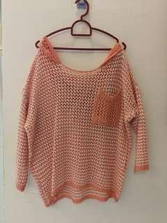 Knit tops see thru XL