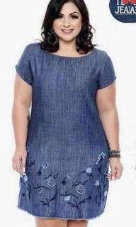 🌸New Arrival!! 🌼370 Pesos  ~ 💁♀️PRODUCT DETAILS 💋U.S Plus Size Denim Dress 💫1 color only 💫Fabric: Denim 💫Size/s: Fits up to Extra Large Body Frame (Freesize)