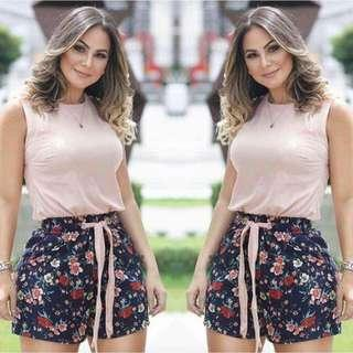 🌸New Arrival!! 🌼350 Pesos  ~ 💁♀️PRODUCT DETAILS 💋U.S Classy Terno (Top + Short) 💫1 color only 💫Fabric: Mixed Cloth 💫Size/s: Fits up to Semi Large Body Frame (Freesize)