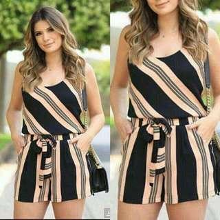 🌸New Arrival!! 🌼350 Pesos  ~ 💁♀️PRODUCT DETAILS 💋U.S Classy Romper 💫1 color only 💫Fabric: Mixed Cloth 💫Size/s: Fits up to Semi Large Body Frame (Freesize)
