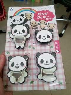 可愛熊貓曲奇模