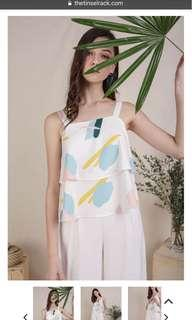 TTR HENA DOUBLE TIERED TOP (PASTEL ABSTRACT)