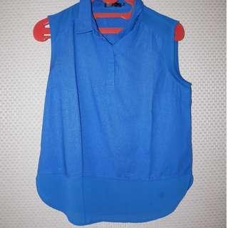 [GARAGE SALE] Zalora Blue Mesh Top
