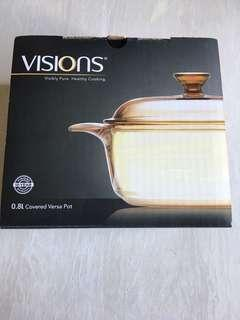 Visions 0.8L covered versa pot