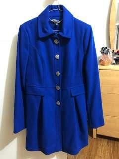 Size 12 Forever New Blue Coat