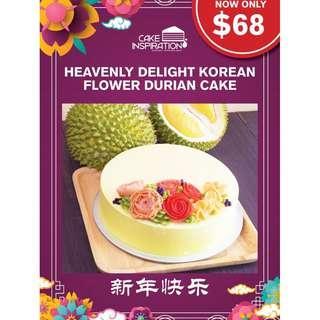 Heavenly Delight Korean Flower Durian Cake