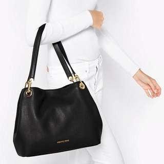 Michael Kors Raven Leather Shoulder Bag