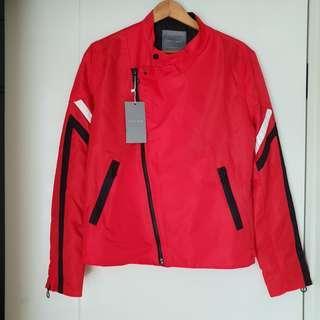 Jaket Zara Man Merah Baru Asli Original