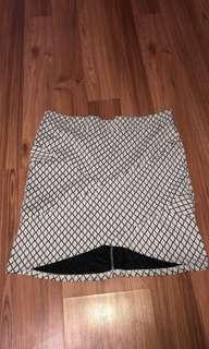 Check style skirt