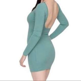 American Apparel mint bodycon mini dress