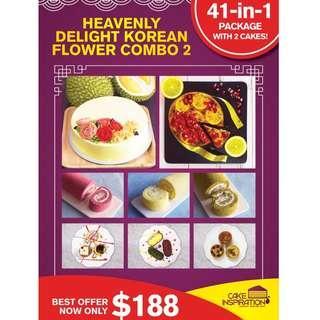 Heavenly Delight Korean Flower Combo 2 41-in-One Set