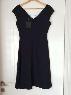 Dress Massimo Dutti Hitam Baru Asli Original