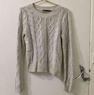 Dotti White Knitted Jumper