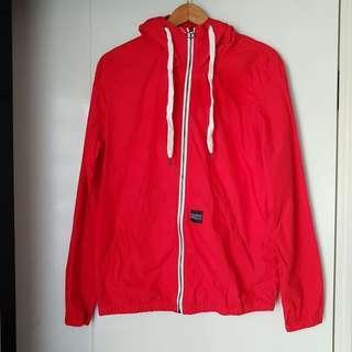 Jaket Pull & Bear Merah Baru Asli Original