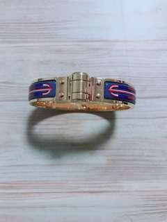 Hermes coloured hinged bracelet