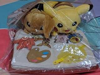 (Authentic) Pikachu and Eevee plush