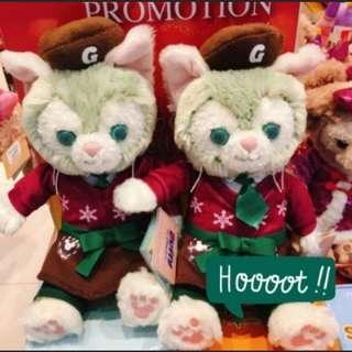 送禮首選 正品絕版 迪士尼 聖誕 畫家貓 娃娃 吊飾