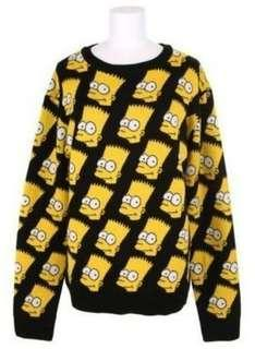 🚚 Bart simpson black knitted sweater/top