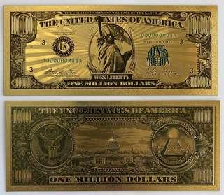 Liberty million-dollar bill