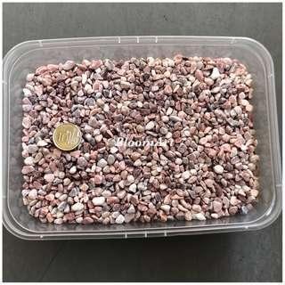 Pinkish stones