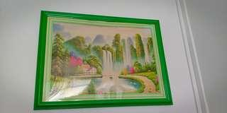 Photo frame with jigsaw puzzle take both