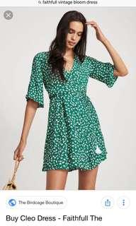Faithfull the brand - Cleo dress - vintage bloom print - green - size 6 - BNWT