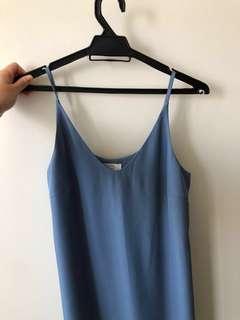 Daryea Midi Slip dress - Dusty Blue