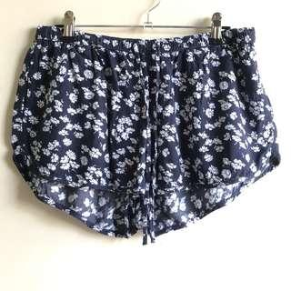 Abercrombie and Fitch floral drawstring shorts