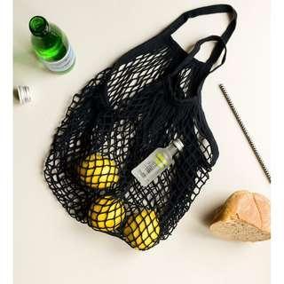 Seek the Uniq Black Cotton Net Bag