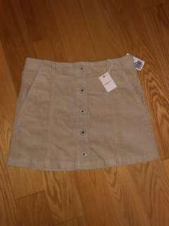 Beige Button up skirt