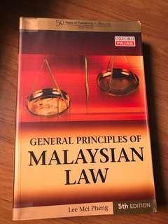 General principles of Malaysian Law