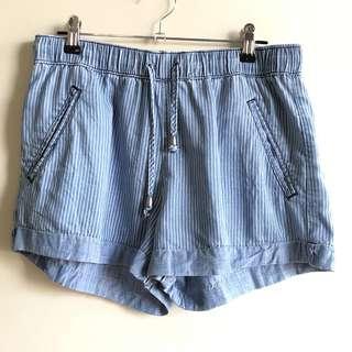 Blue Ribbon drawstring chambray shorts