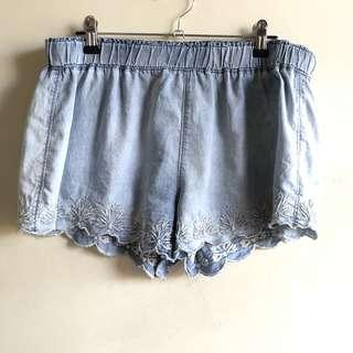 Mossimo Supply & Co. embroidered chambray shorts
