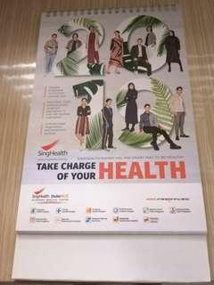Free Singhealth 2019 calendar only with any purchase