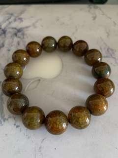 🚚 14mm Dragon's vein agate bracelet wealth stone imperial stone