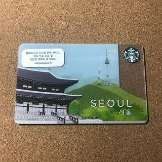 🚚 Korea Starbucks Seoul City Card