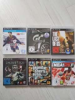 Ps3 Games - GTA5 The Last of Us GT5....