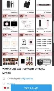 ORDER NOW IF WANT !! WANNA ONE OFFICIAL LAST CONCERT TOUR MERCHANDISE