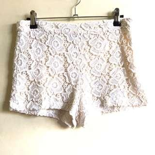 Forever 21 high waist lace shorts