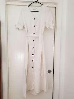 The Editors Market Cream Linen dress size M