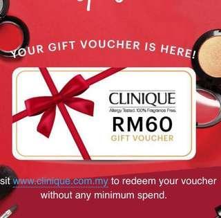 [sale] Clinique RM60 Gift Voucher #BEAUTY50