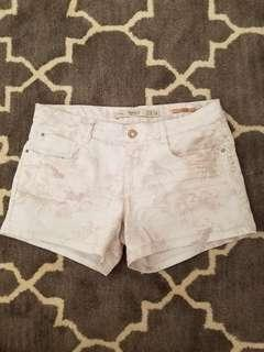 Zara cream shorts with pattern size 38
