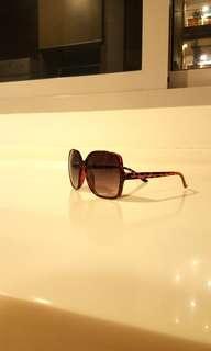Box shape leopard print sunglasses