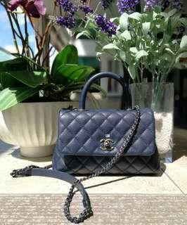 Authentic Chanel Coco Handle Small Flap Bag