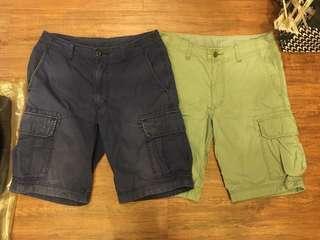 🚚 二手UNIQLO兩件一起賣30腰工作休閒短褲