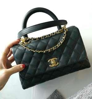 Authentic Chanel Small Coco Handle Flap Bag