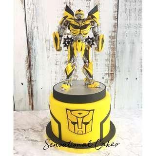 Bumble Bee Transformers robot 3d customized cake #singaporecake