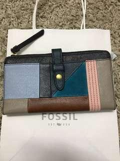 Fossil patchwork multi wallet