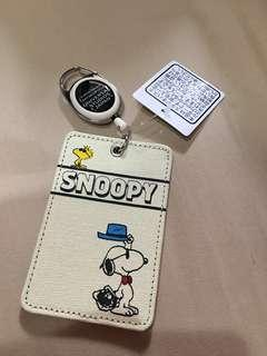 Snoopy ID Cardholder White